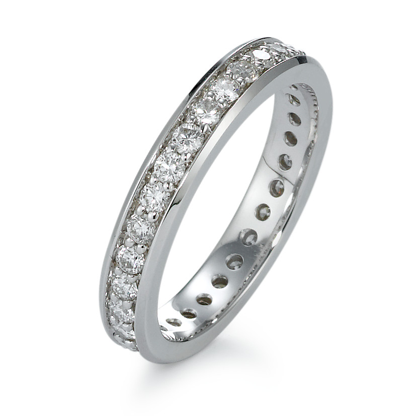 Memory Ring 750/18 K Weissgold Diamant